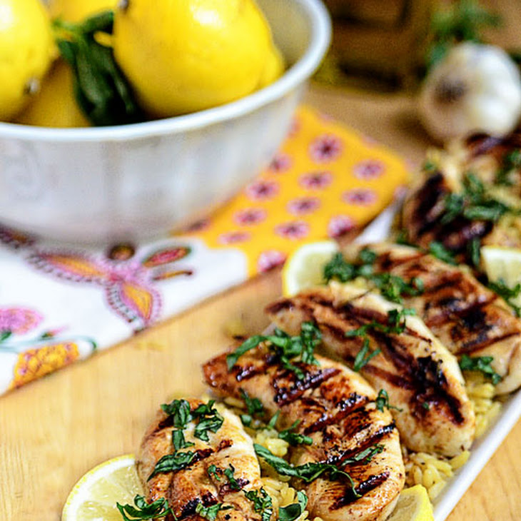 Grilled Lemon-Cumin Chicken With Charmoula Sauce Recipes — Dishmaps