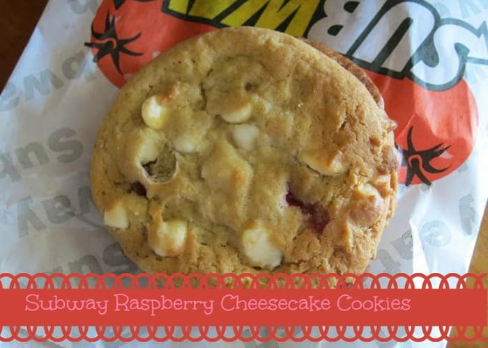 Subway White Chocolate Raspberry Cheesecake Cookie