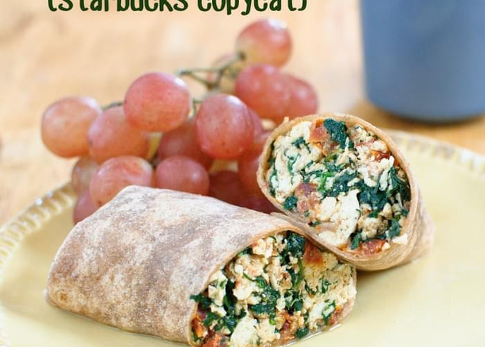 Copycat Starbucks Egg White, Spinach & Feta Wrap