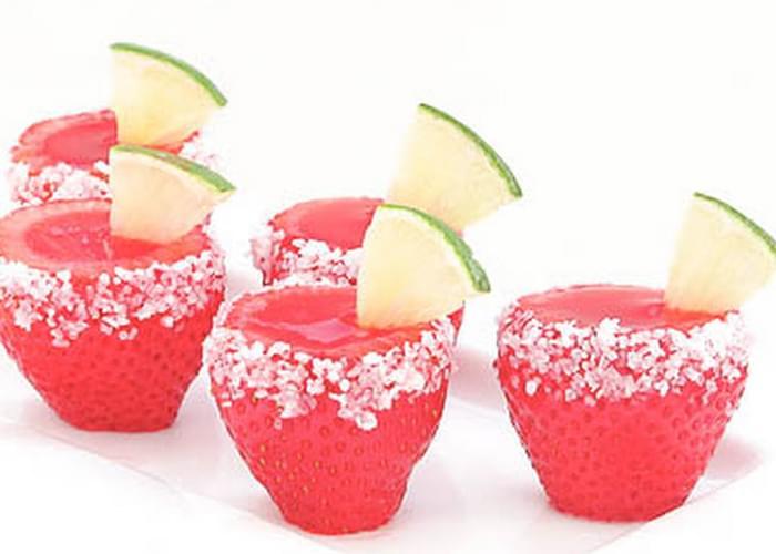 Strawberry Margarita Jell-O Shooters