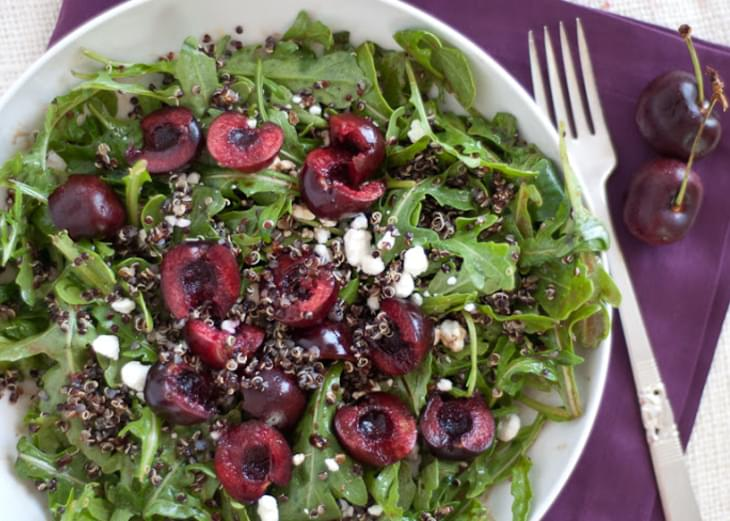 Cherry, Arugula and Quinoa Salad