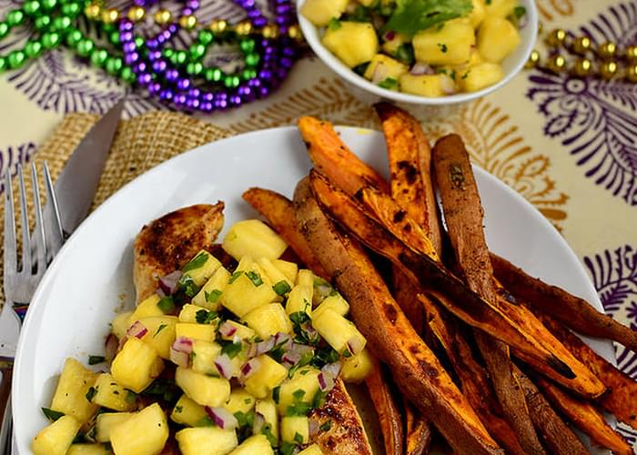 Cajun Chicken with Mardi Gras Salsa