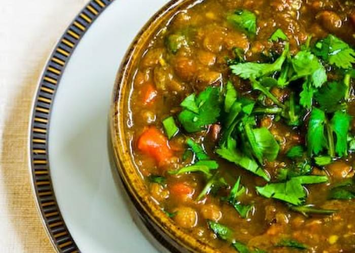 Curried Lentil Soup with Cilantro