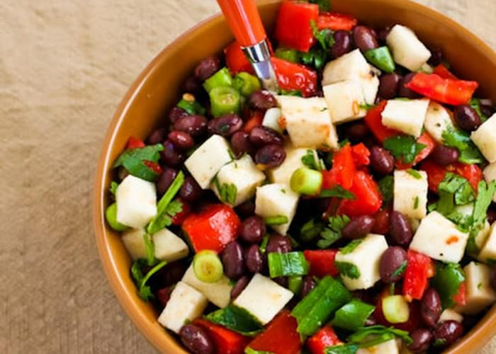 Black Bean Salad with Jicama, Tomatoes, Cilantro, and Lime