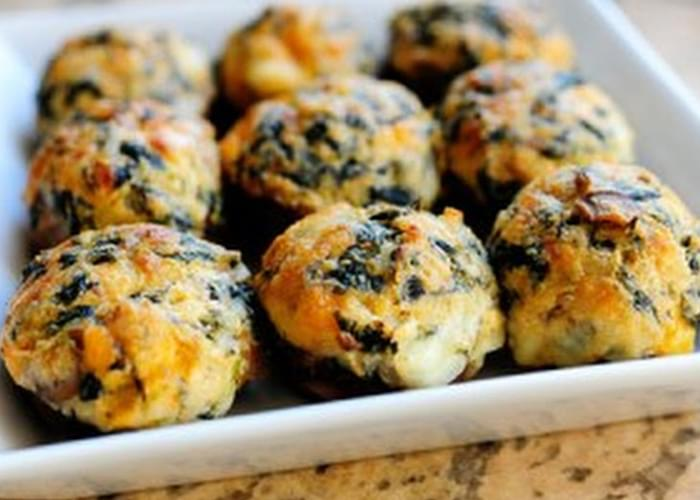 Spicy Spinach-Stuffed Mushrooms
