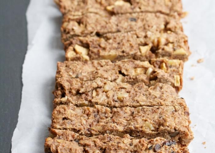 Toasted Oatmeal & Apple Breakfast Bars