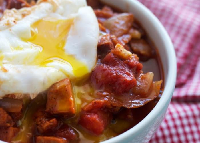 Spicy Breakfast Stew (with the perfect poached egg)