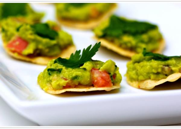 Healthy Guacamole Tostadas