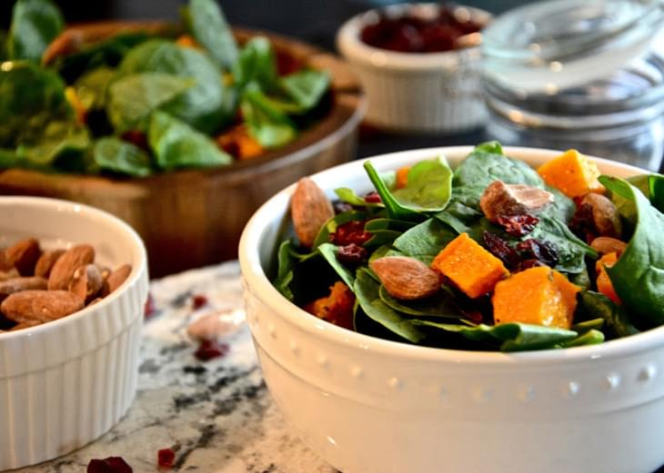 Autumn Butternut Squash Salad with Maple Balsamic Vinaigrette