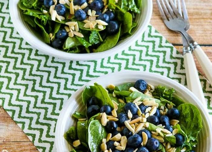 Power Greens Salad with Blueberries and Almonds