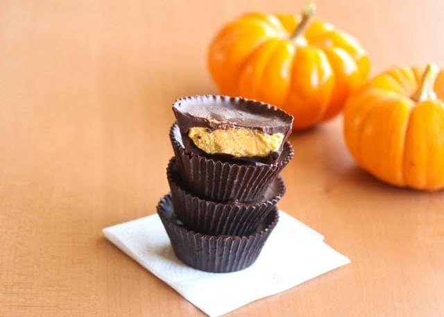 Pumpkin Cheesecake Chocolate Cups