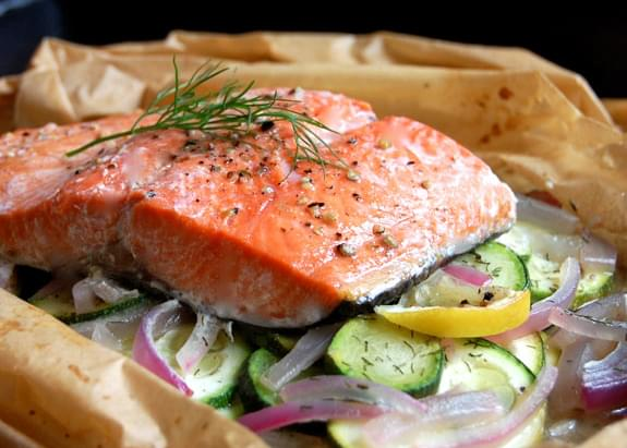 Dill & Lemon Baked Salmon in Parchment