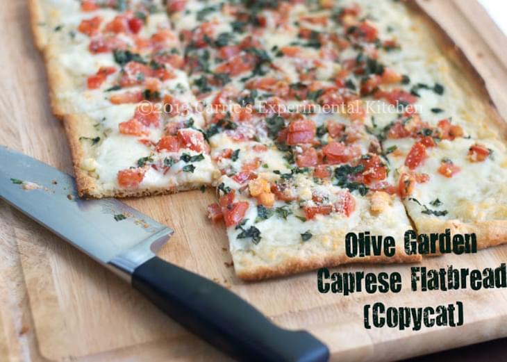 Olive Garden Caprese Flatbread (Copycat)