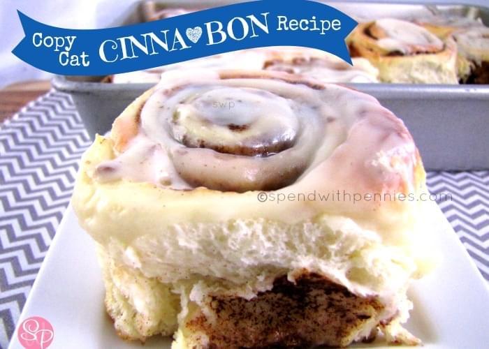 Copy Cat Cinna*Bon Recipe! Delicious Cinnamon Rolls at Home!