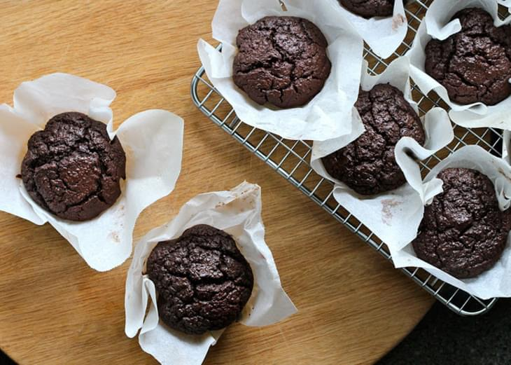 Beetroot, Quinoa and Chocolate Muffins