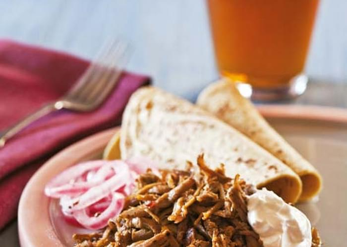 Pulled Pork Tacos with Habanero Salsa