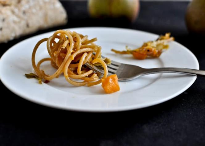 Caramelized Pear, Squash & Parmesan Noodles