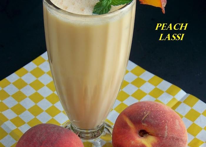Peach Lassi (Smoothie)