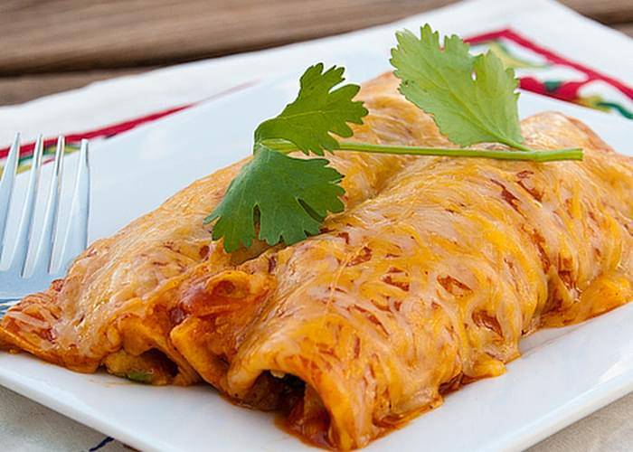 Guacamole Chicken Enchiladas