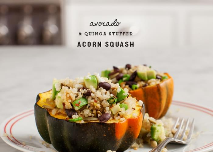 Avocado & Quinoa Stuffed Acorn Squash