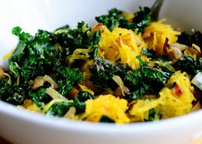 Roasted Spaghetti Squash and Kale