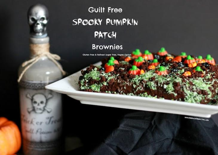 Guilt Free Spooky Pumpkin Patch Brownies