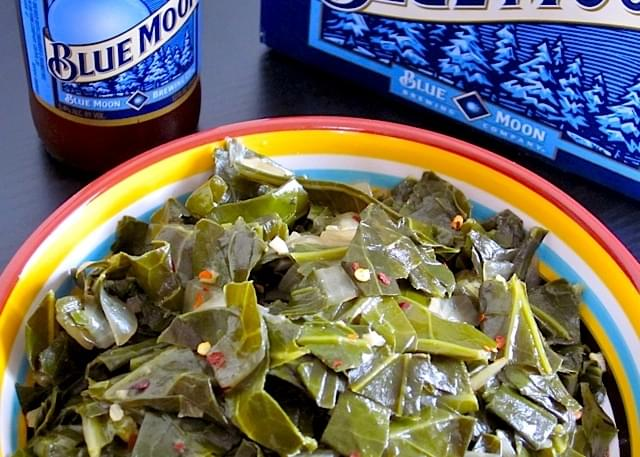 Beer Braised Collard Greens