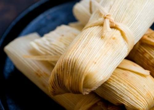Turkey Tamales With Guajillo-cranberry Mole