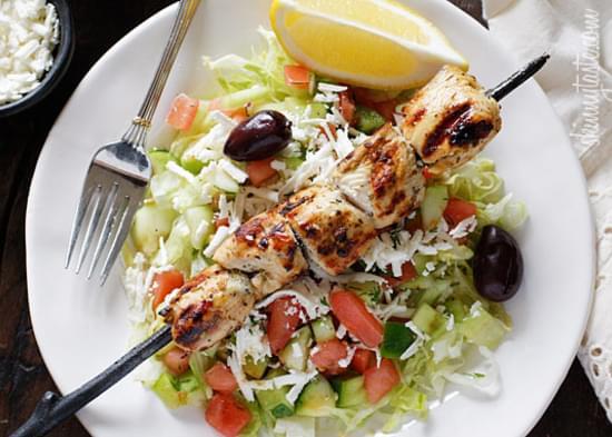 Mediterranean Chicken Kebab Salad